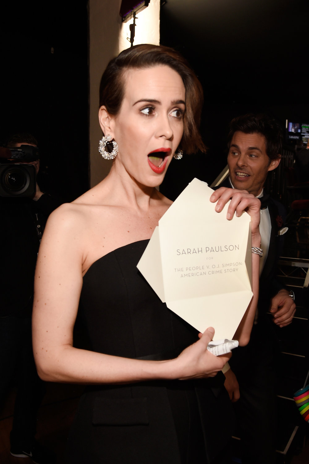 LOS ANGELES, CA - JANUARY 29: Actor Sarah Paulson (L) attends The 23rd Annual Screen Actors Guild Awards at The Shrine Auditorium on January 29, 2017 in Los Angeles, California. 26592_011  (Photo by Kevin Mazur/Getty Images for TNT) *** Local Caption *** Sarah Paulson