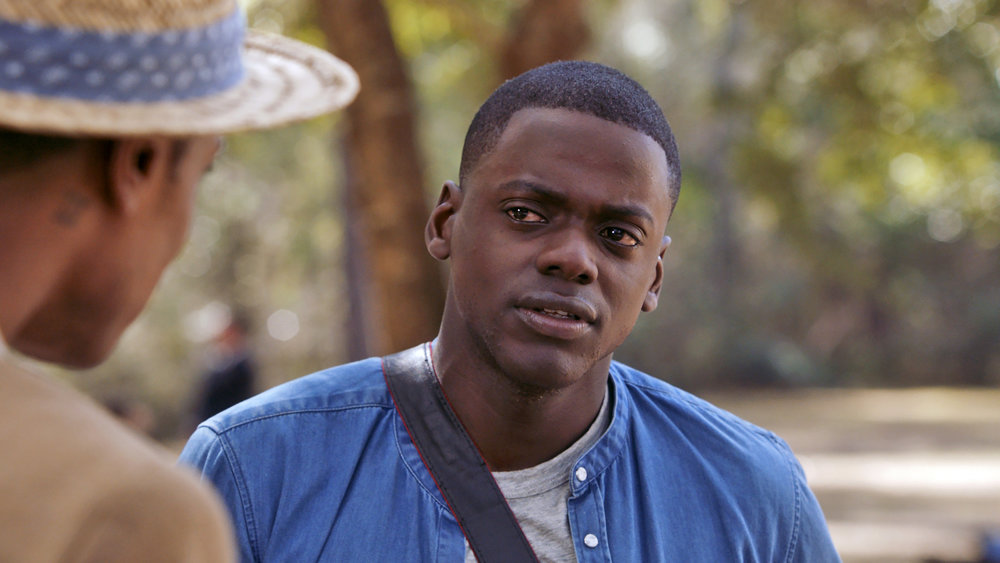 "(L to R) Logan (LAKEITH STANFIELD) meets Chris (DANIEL KALUUYA) in Universal Pictures' ""Get Out,"" a speculative thriller from Blumhouse (producers of ""The Visit,"" ""Insidious"" series and ""The Gift"") and the mind of Jordan Peele.  When a young African-American man visits his white girlfriend's family estate, he becomes ensnared in a more sinister real reason for the invitation."