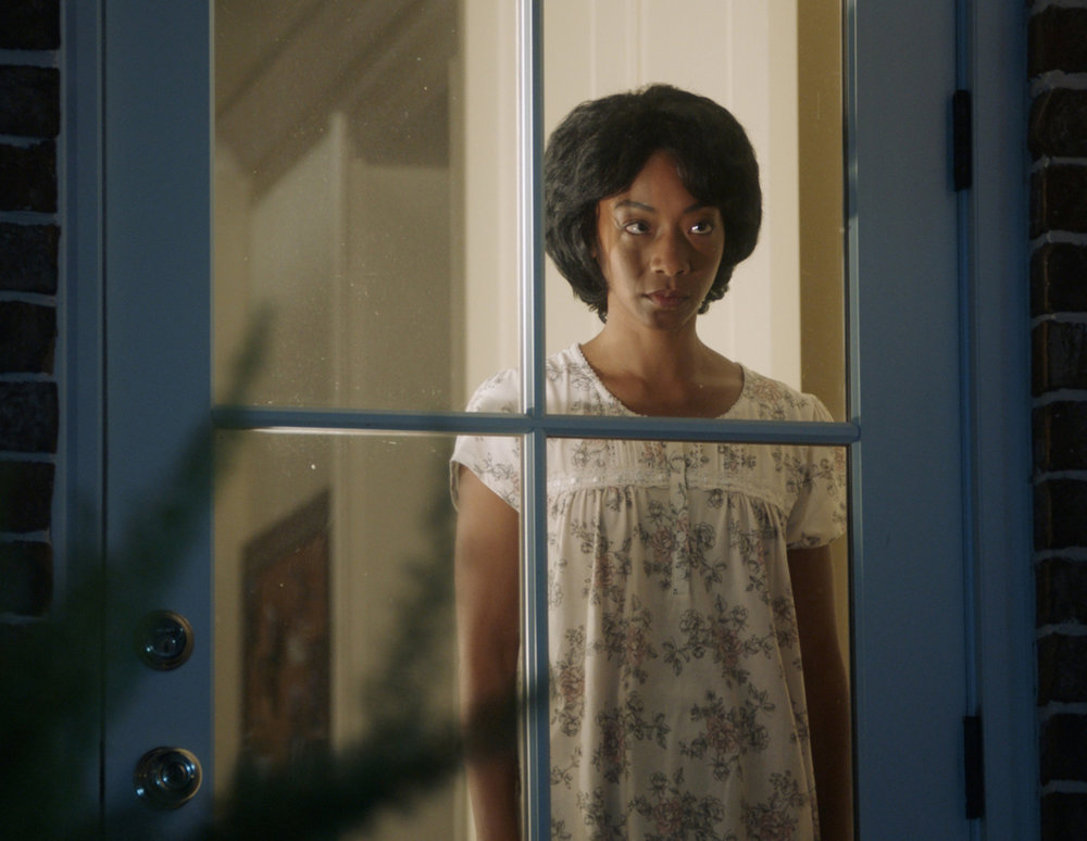 "BETTY GABRIEL as Georgina in Universal Pictures' ""Get Out,"" a speculative thriller from Blumhouse (producers of ""The Visit,"" ""Insidious"" series and ""The Gift"") and the mind of Jordan Peele.  When a young African-American man visits his white girlfriend's family estate, he becomes ensnared in a more sinister real reason for the invitation."