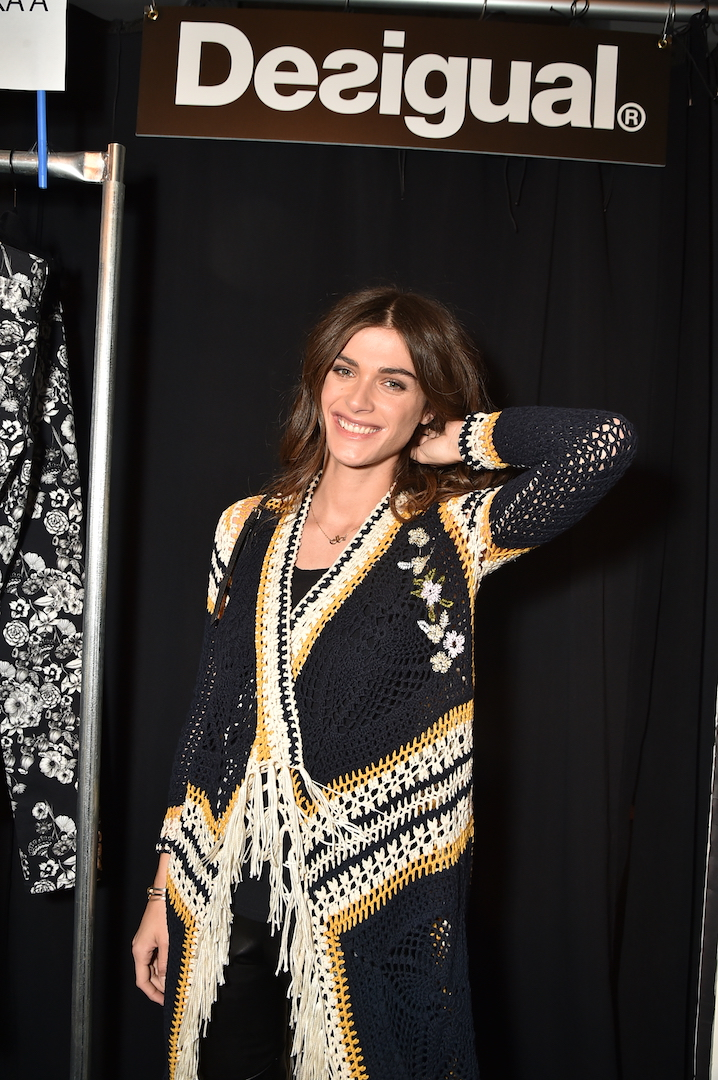 Model Elisa Sednaoui attends the Desigual fashion show during New York Fashion Week at Gallery 1, Skylight at Clarkson Sq on February 9, 2017 in New York City.