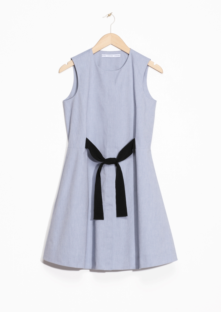 & Other Stories A-line Cotton Dress -