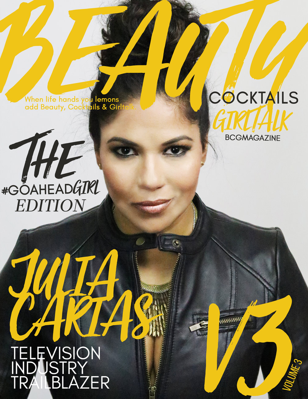 V3 JULIA CARIAS - Cover girl Julia Carias is a film, TV & digital producer. TV Executive  @fyi@aenetworks + CEO @ JCL Staging & Design.