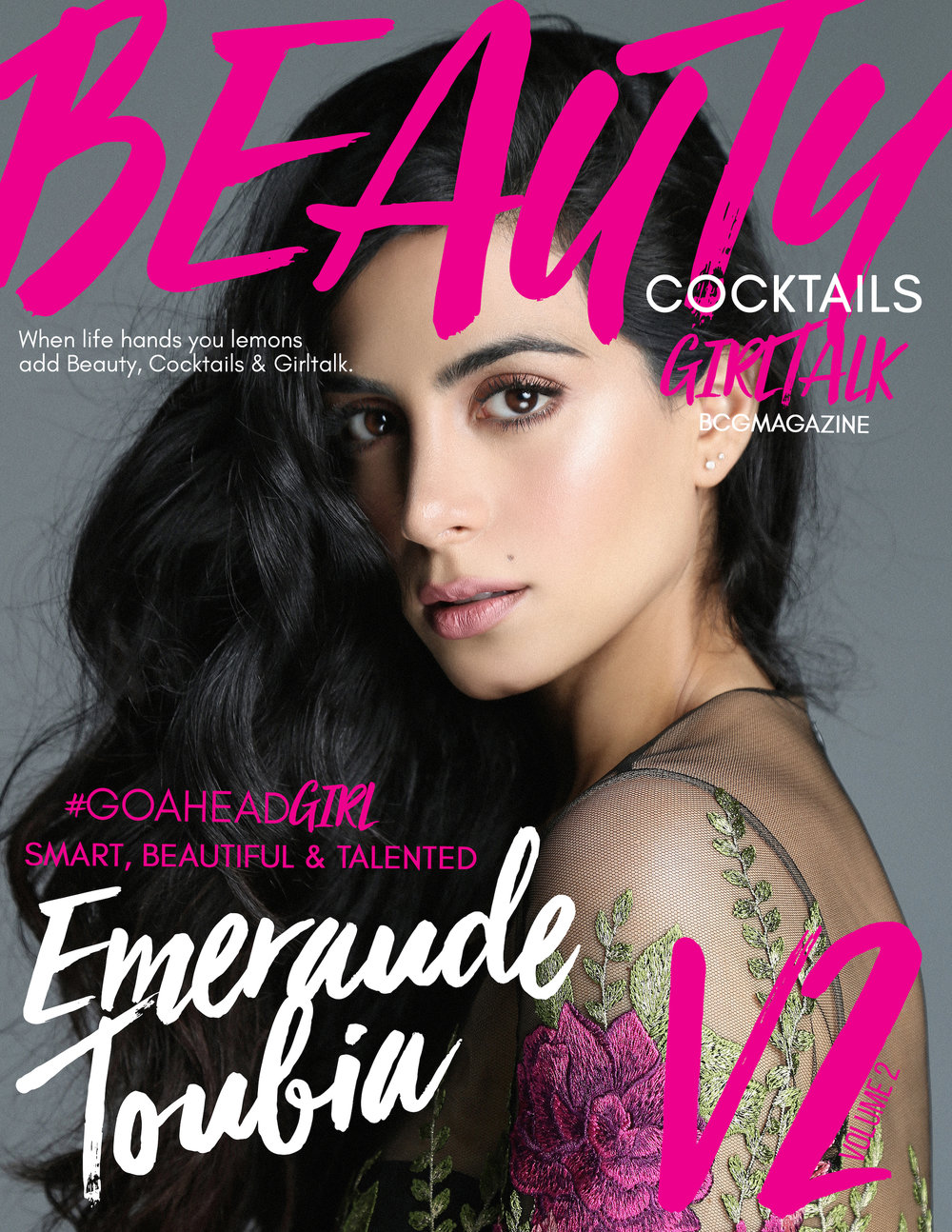 V2 / EMERAUDE TOUBIA - READ VOLUME 2Emeraude Toubia is a Lebanese-Mexican Actress and the star of FreeformShadow Hunters.