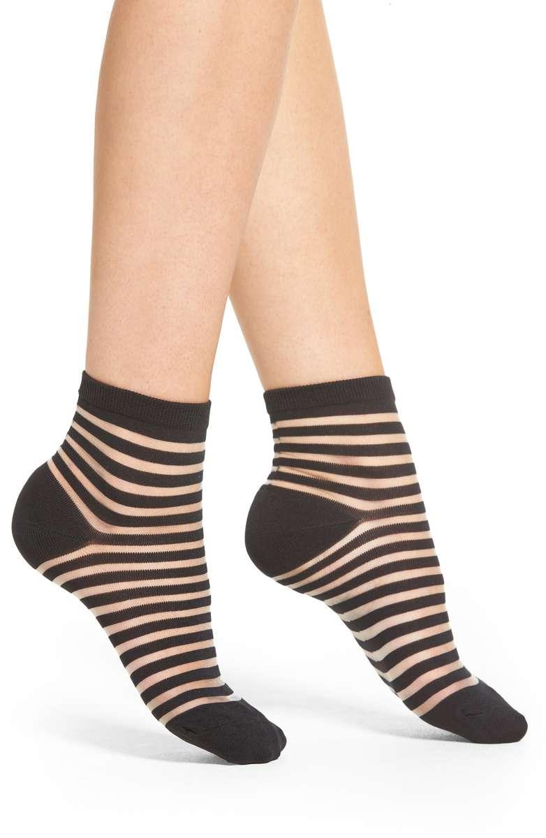 Sheer StripeAnkle Socks - Kate Spade New York