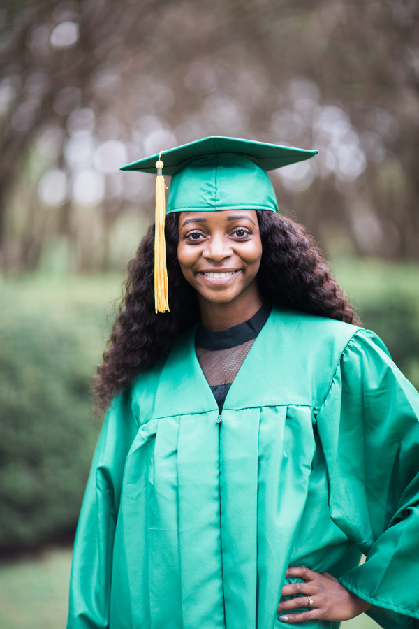 #GOAHEADGIRL - Jazzmine is graduating with a degree in Biology.  Photography by Texas Sweet Photography