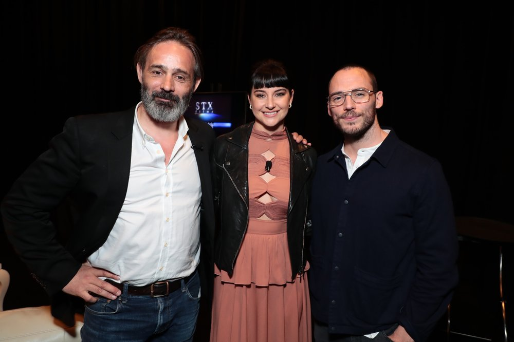 Director Baltasar Kormákur, Shailene Woodley and Sam Claflin attend STXfilms' 2018 CinemaCon Presentation at The Colosseum of Caesars Palace, Las Vegas, NV Tuesday, April 24, 2018.