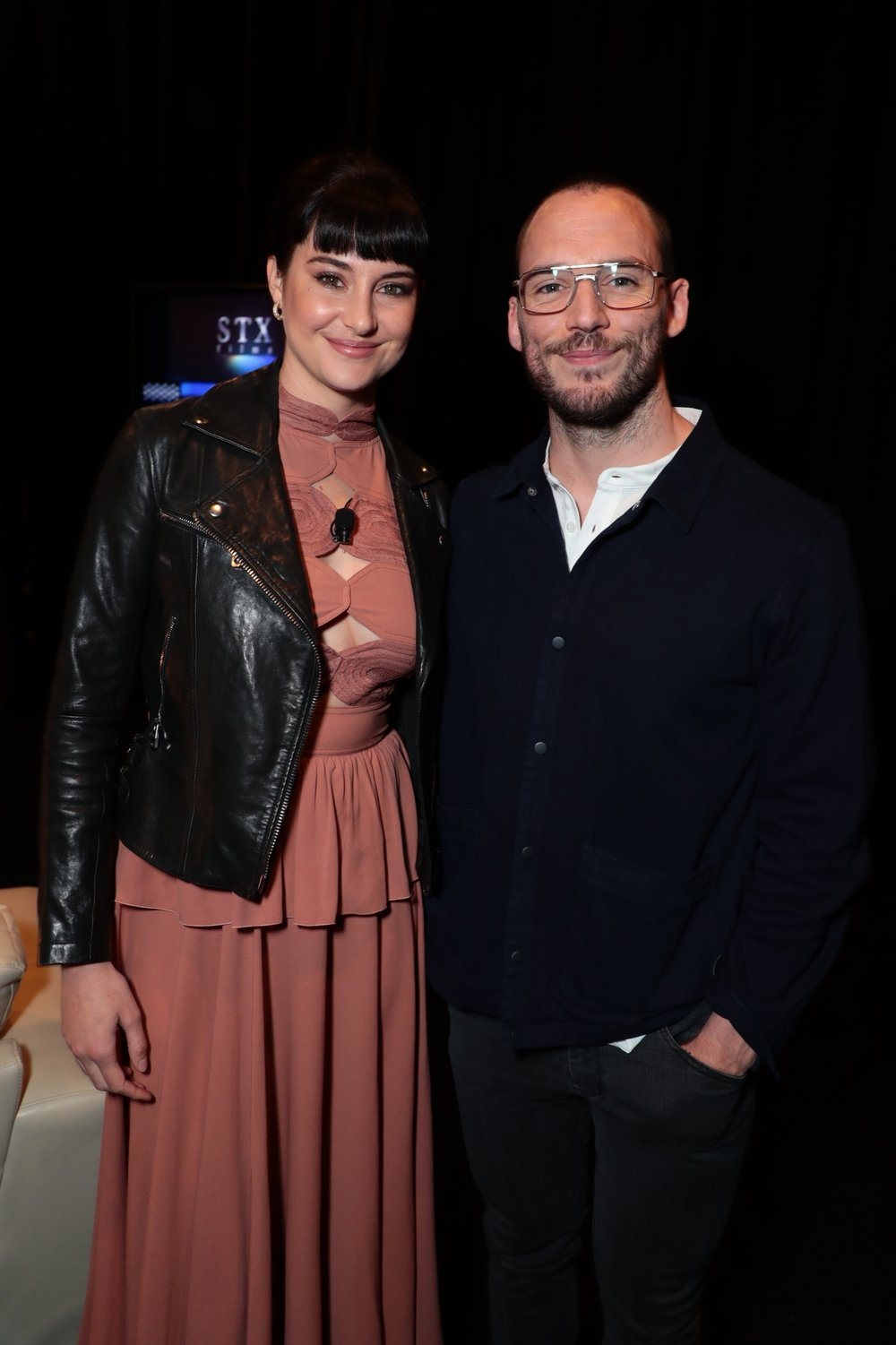 Shailene Woodley and Sam Claflin attend STXfilms' 2018 CinemaCon Presentation at The Colosseum of Caesars Palace, Las Vegas, NV Tuesday, April 24, 2018.