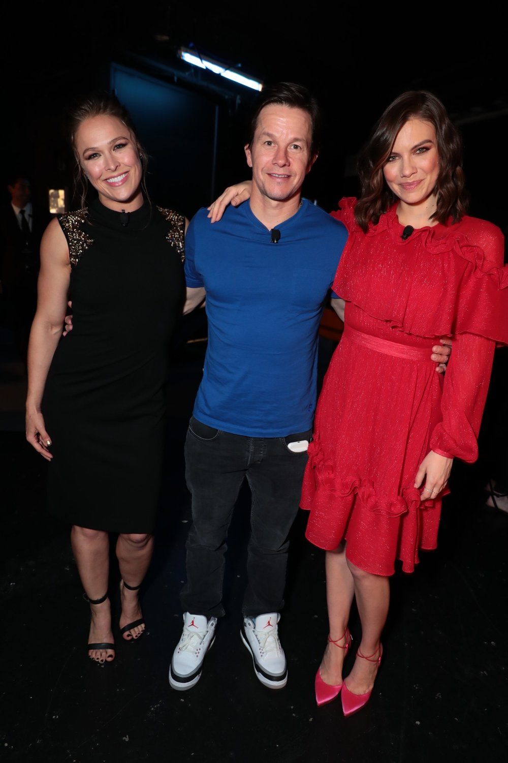 Ronda Rousey, Mark Wahlberg and Lauren Cohan attend STXfilms' 2018 CinemaCon Presentation at The Colosseum of Caesars Palace, Las Vegas, NV Tuesday, April 24, 2018.