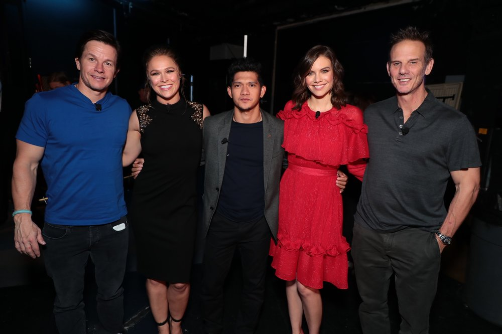 Mark Wahlberg, Ronda Rousey, Iko Uwais, Lauren Cohan and Director Peter Berg attend STXfilms' 2018 CinemaCon Presentation at The Colosseum of Caesars Palace, Las Vegas, NV Tuesday, April 24, 2018.