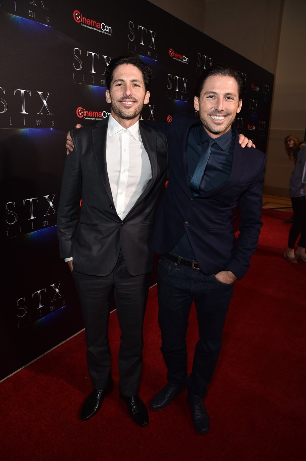Aaron Kandell and Jordan Kandell attend STXfilms' 2018 CinemaCon Presentation at The Colosseum of Caesars Palace, Las Vegas, NV Tuesday, April 24, 2018.