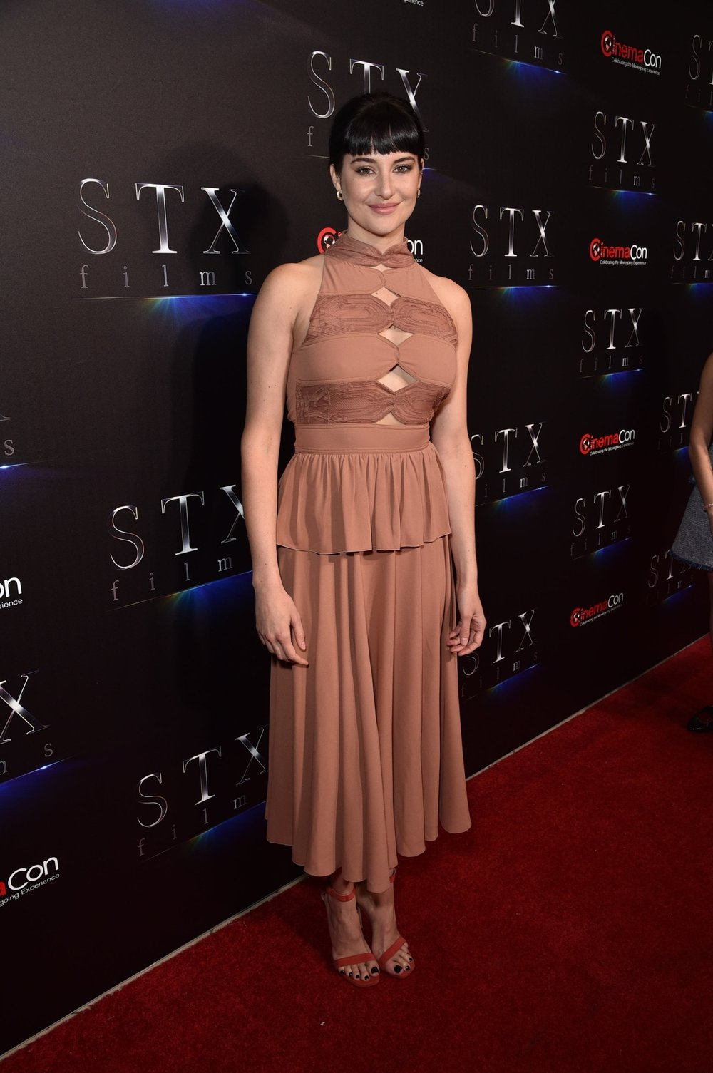 Shailene Woodley attends STXfilms' 2018 CinemaCon Presentation at The Colosseum of Caesars Palace, Las Vegas, NV Tuesday, April 24, 2018.