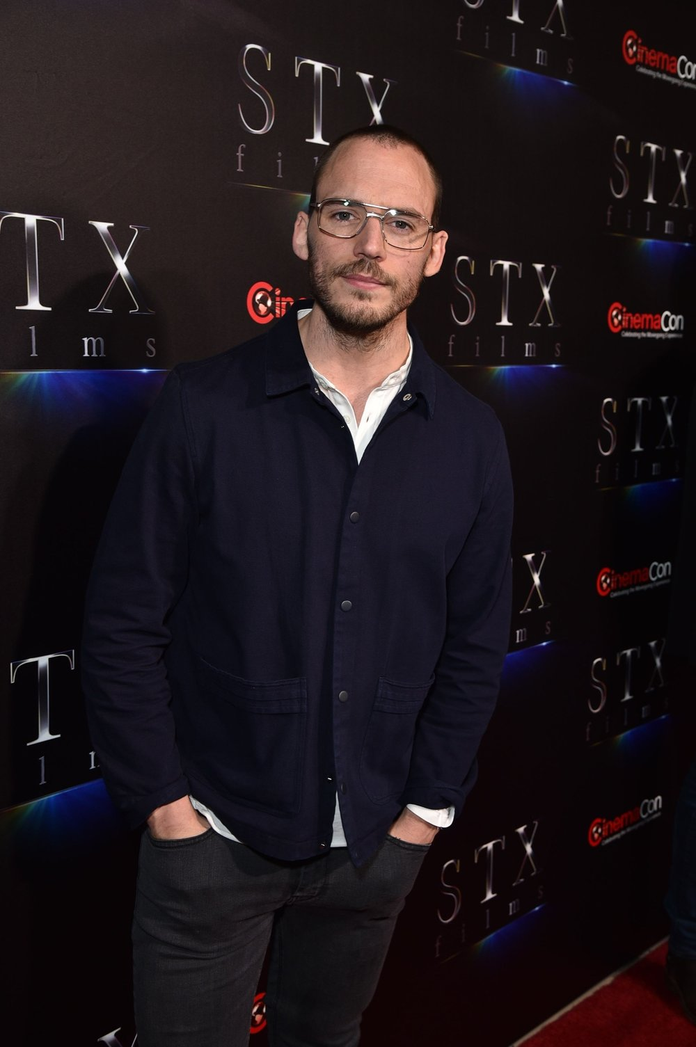 Sam Claflin attends STXfilms' 2018 CinemaCon Presentation at The Colosseum of Caesars Palace, Las Vegas, NV Tuesday, April 24, 2018.