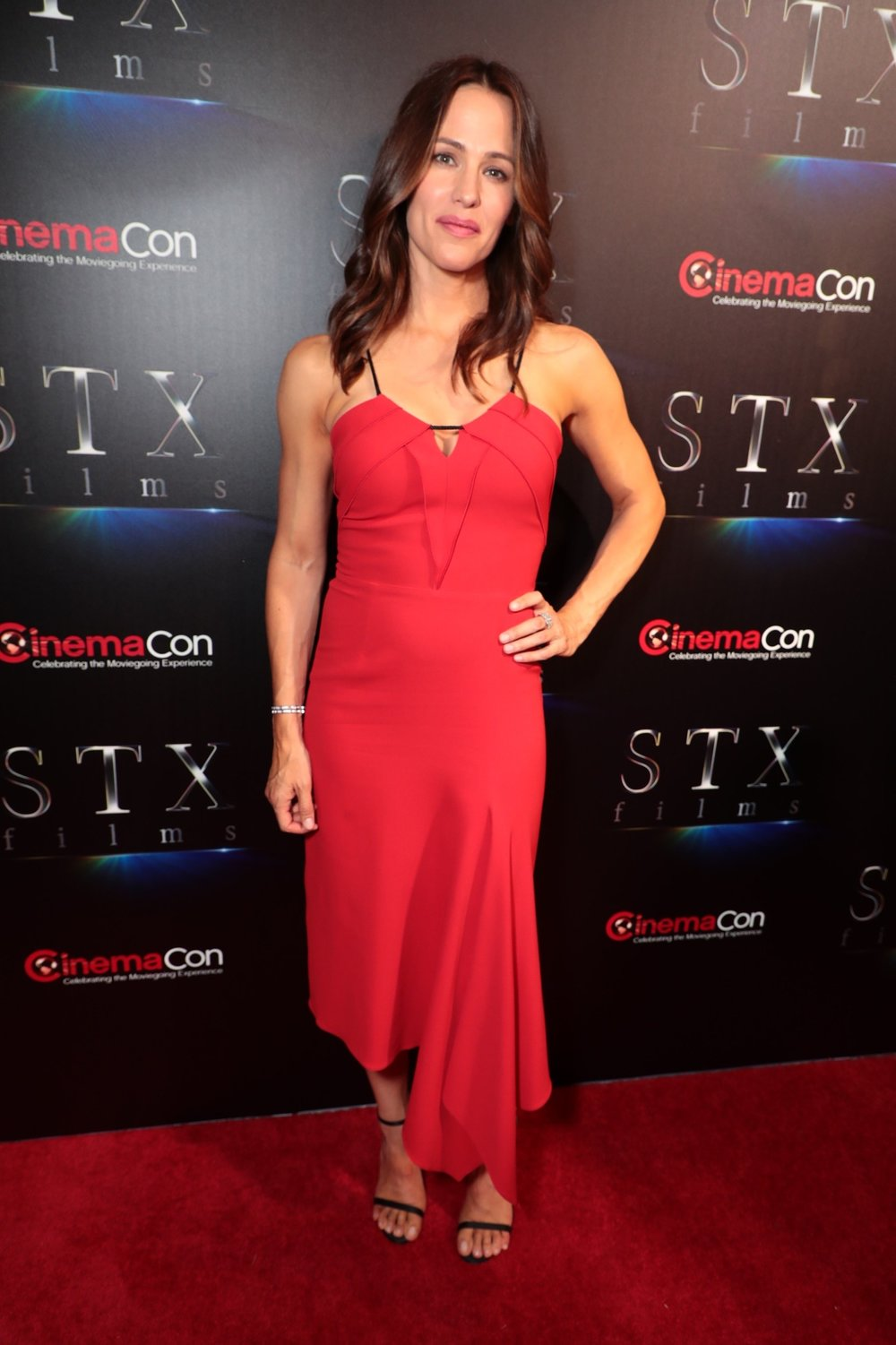 Jennifer Garner attends STXfilms' 2018 CinemaCon Presentation at The Colosseum of Caesars Palace, Las Vegas, NV Tuesday, April 24, 2018.