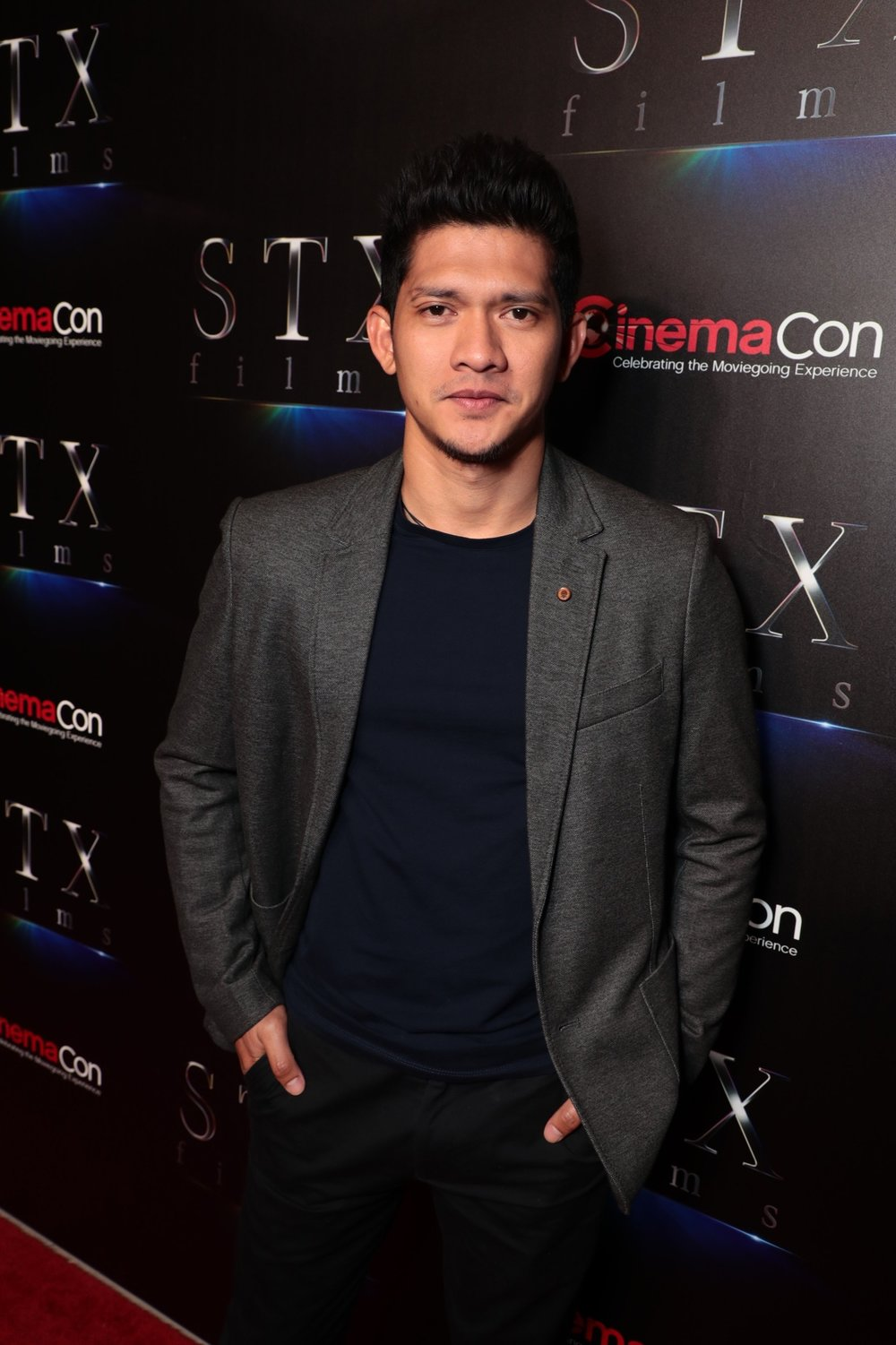 Iko Uwais attends STXfilms' 2018 CinemaCon Presentation at The Colosseum of Caesars Palace, Las Vegas, NV Tuesday, April 24, 2018.