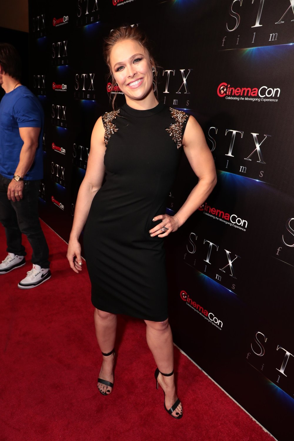 Ronda Rousey attends STXfilms' 2018 CinemaCon Presentation at The Colosseum of Caesars Palace, Las Vegas, NV Tuesday, April 24, 2018.