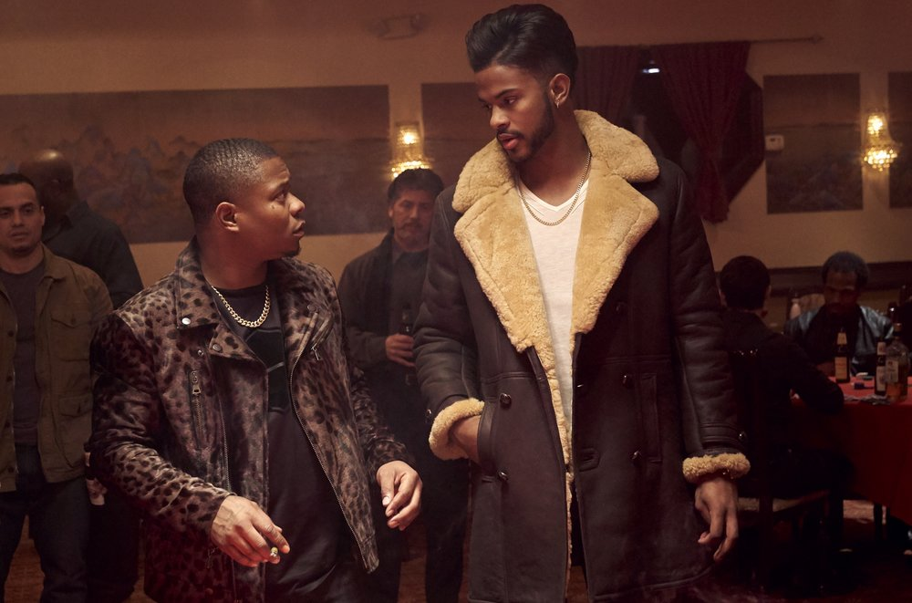 """Jason Mitchell and Trevor Jackson in SUPERFLY.   """"With Superfly, the cast and I were focused on paying homage to the original film, while bringing something new and fresh.  I'm excited for everyone to see this movie the cast and crew worked so hard on.""""  - DIRECTOR x"""
