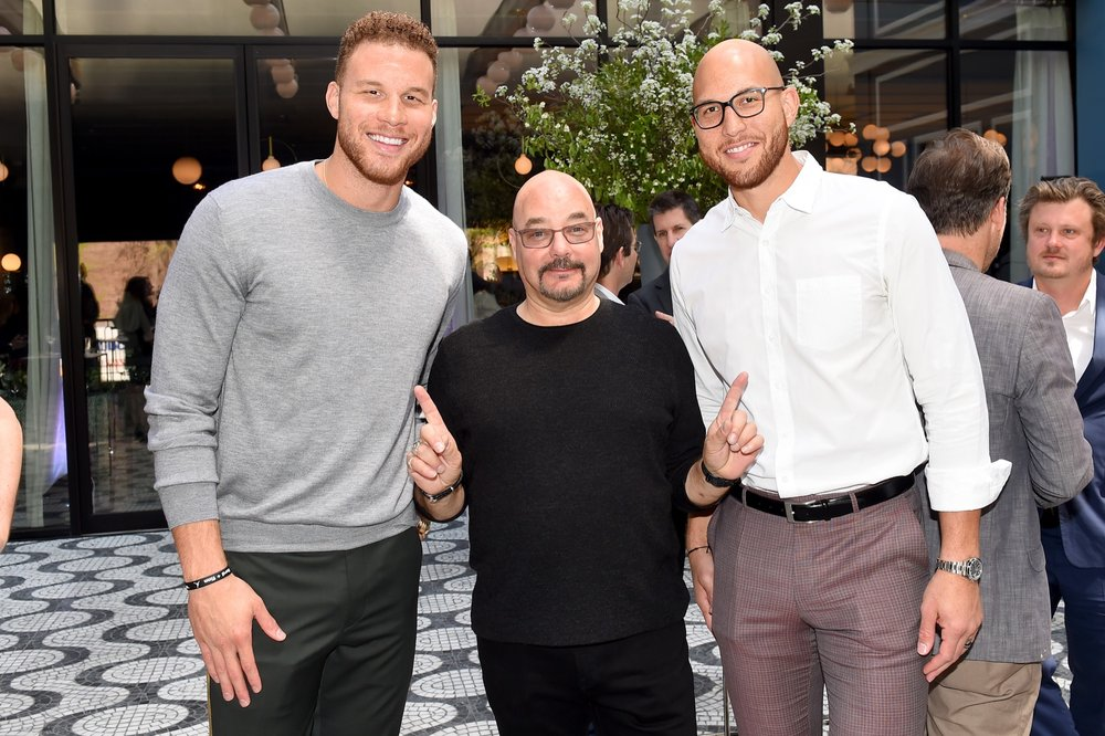 NEW YORK, NY - MAY 02: Blake Griffin, Joel Stillerman and Taylor Griffin attend the Hulu Upfront 2018 Brunch at La Sirena on May 2, 2018 in New York City.  (Photo by Nicholas Hunt/Getty Images for Hulu) *** Local Caption *** Blake Griffin, Joel Stillerman, Taylor Griffin