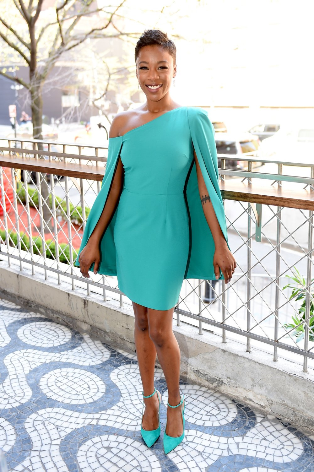 NEW YORK, NY - MAY 02:  Samira Wiley attends the Hulu Upfront 2018 Brunch at La Sirena on May 2, 2018 in New York City.  (Photo by Nicholas Hunt/Getty Images for Hulu) *** Local Caption *** Samira Wiley