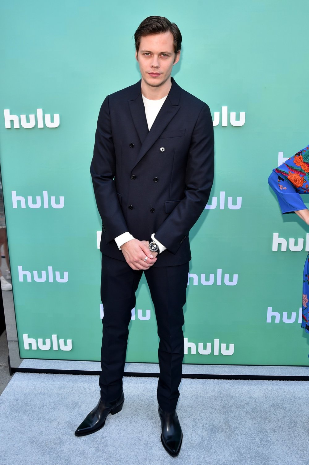 NEW YORK, NY - MAY 02:  Bill Skarsgard attends the Hulu Upfront 2018 Brunch at La Sirena on May 2, 2018 in New York City.  (Photo by Bryan Bedder/Getty Images for Hulu) *** Local Caption *** Bill Skarsgard