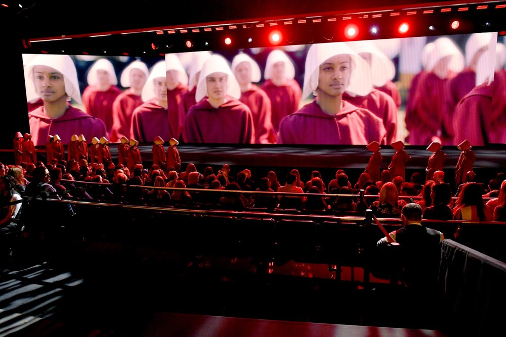 NEW YORK, NY - MAY 02:  A view of the stage during Hulu Upfront 2018 at The Hulu Theater at Madison Square Garden on May 2, 2018 in New York City.  (Photo by Dia Dipasupil/Getty Images for Hulu)