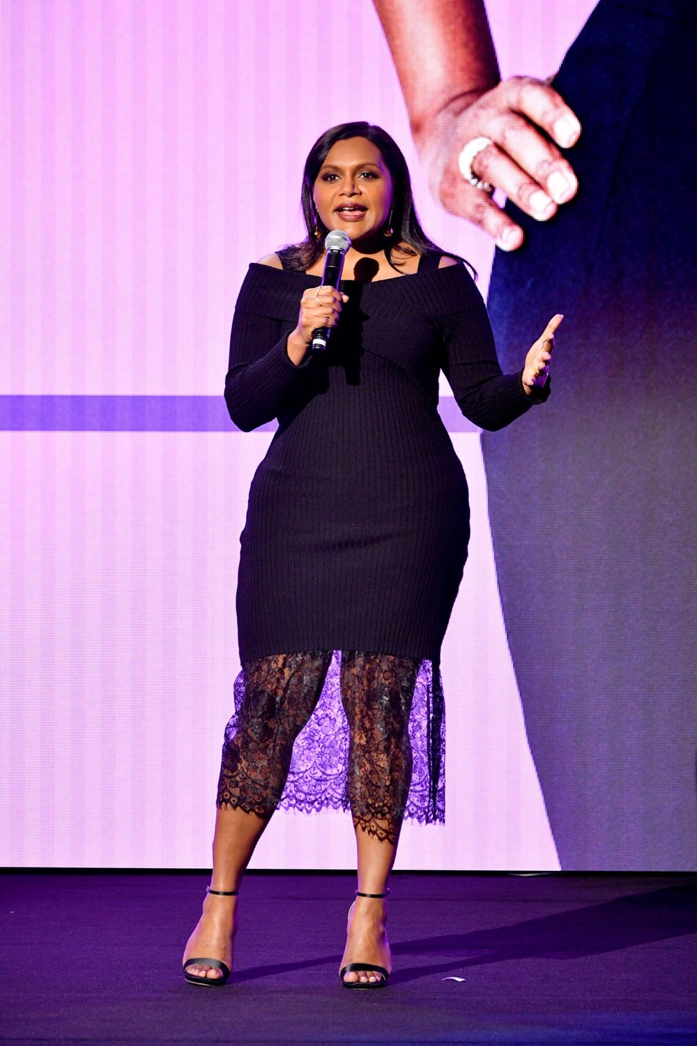 NEW YORK, NY - MAY 02:  Mindy Kaling speaks onstage during Hulu Upfront 2018 at The Hulu Theater at Madison Square Garden on May 2, 2018 in New York City.  (Photo by Dia Dipasupil/Getty Images for Hulu) *** Local Caption *** Mindy Kaling