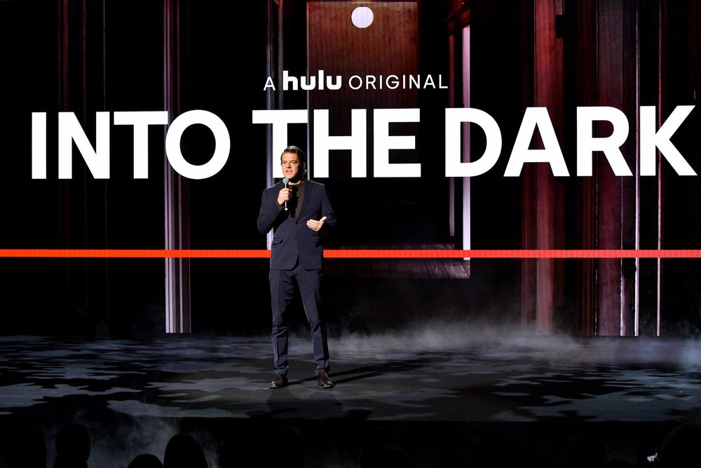NEW YORK, NY - MAY 02:  Jason Blum speaks onstage during Hulu Upfront 2018 at The Hulu Theater at Madison Square Garden on May 2, 2018 in New York City.  (Photo by Dia Dipasupil/Getty Images for Hulu) *** Local Caption *** Jason Blum