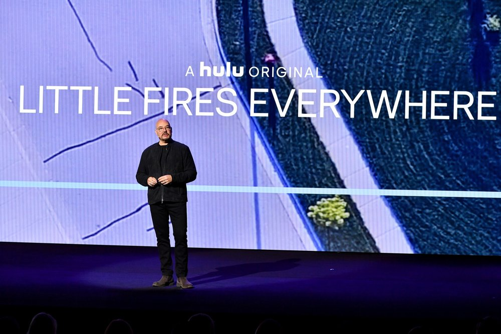 NEW YORK, NY - MAY 02:  Chief Content Officer Joel Stillerman speaks onstage during Hulu Upfront 2018 at The Hulu Theater at Madison Square Garden on May 2, 2018 in New York City.  (Photo by Dia Dipasupil/Getty Images for Hulu) *** Local Caption *** Joel Stillerman