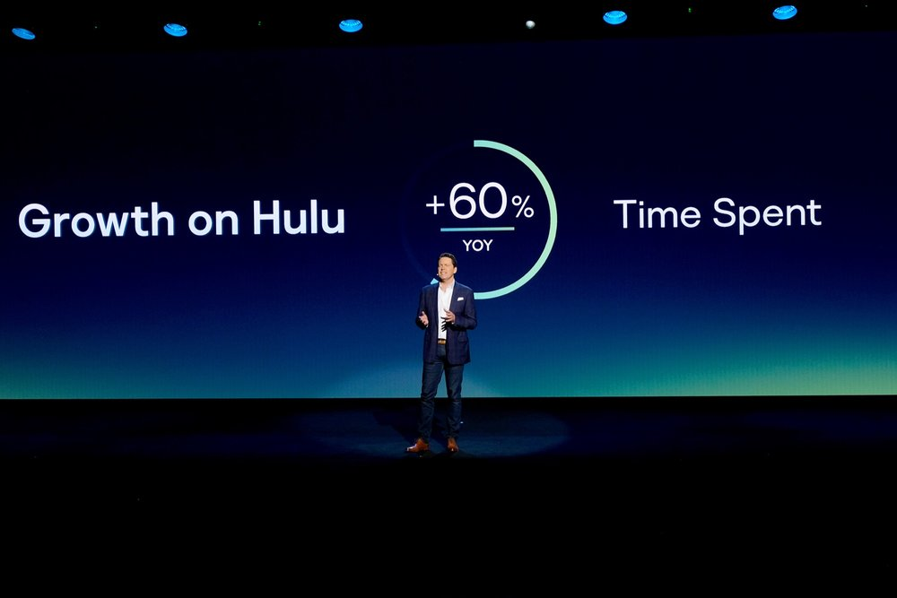 NEW YORK, NY - MAY 02:  Hulu Senior Vice President of Sales Peter Naylor speaks onstage during Hulu Upfront 2018 at The Hulu Theater at Madison Square Garden on May 2, 2018 in New York City.  (Photo by Dia Dipasupil/Getty Images for Hulu) *** Local Caption *** Peter Naylor