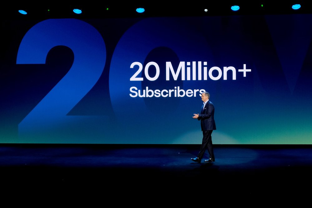 NEW YORK, NY - MAY 02:  Chief Executive Officer Randy Freer speaks onstage during Hulu Upfront 2018 at The Hulu Theater at Madison Square Garden on May 2, 2018 in New York City.  (Photo by Dia Dipasupil/Getty Images for Hulu) *** Local Caption *** Randy Freer