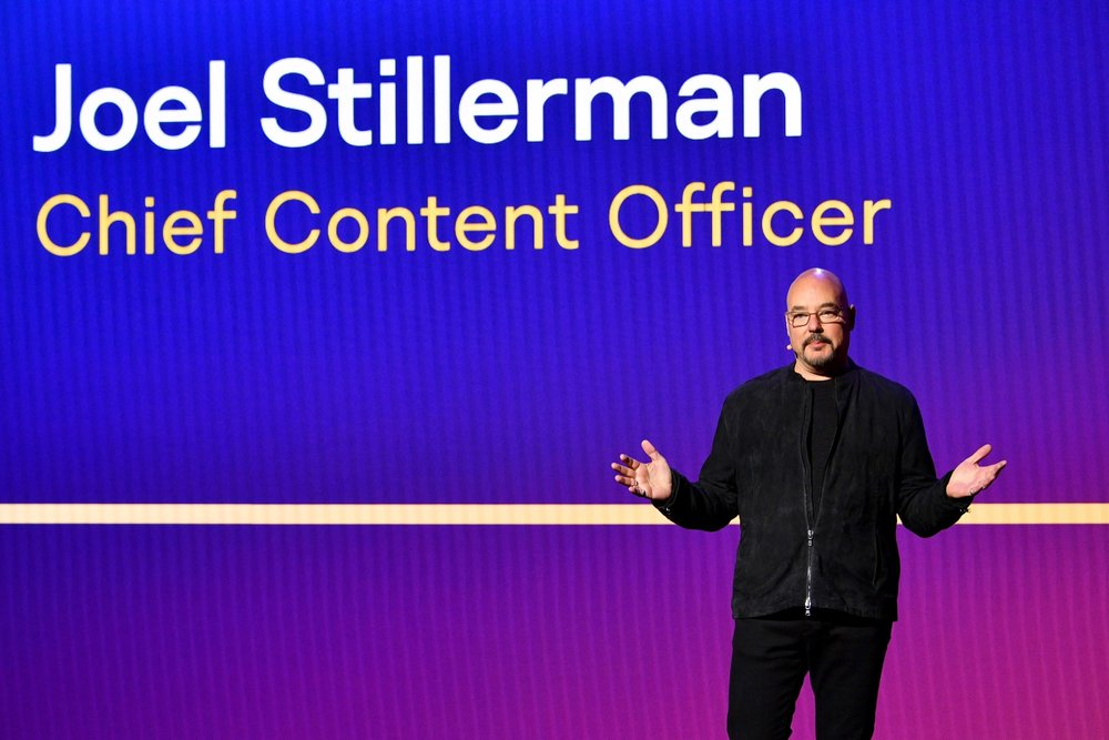 NEW YORK, NY - MAY 02:  Hulu Chief Content Officer Joel Stillerman onstage during Hulu Upfront 2018 at The Hulu Theater at Madison Square Garden on May 2, 2018 in New York City.  (Photo by Dia Dipasupil/Getty Images for Hulu) *** Local Caption *** Joel Stillerman