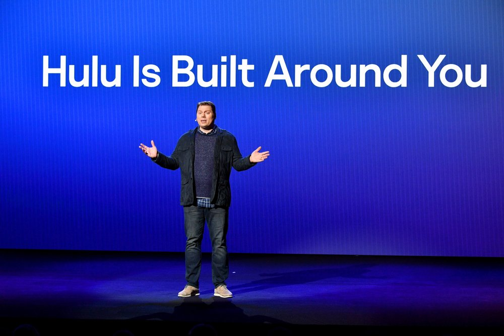 NEW YORK, NY - MAY 02:  Senior Vice President, Head of Experience Ben Smith speaks onstage during Hulu Upfront 2018 at The Hulu Theater at Madison Square Garden on May 2, 2018 in New York City.  (Photo by Dia Dipasupil/Getty Images for Hulu) *** Local Caption *** Ben Smith