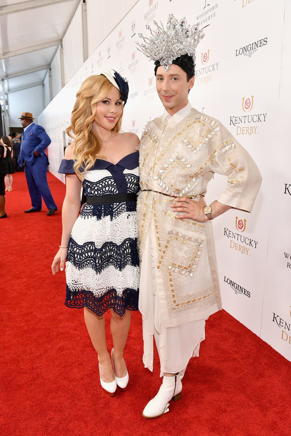 LOUISVILLE, KY - MAY 05:  American figure skaters Tara Lipinski and Johnny Weir attend Kentucky Derby 144 on May 5, 2018 in Louisville, Kentucky.  (Photo by Dia Dipasupil/Getty Images for Chruchill Downs) *** Local Caption *** Tara Lipinski;Johnny Weir