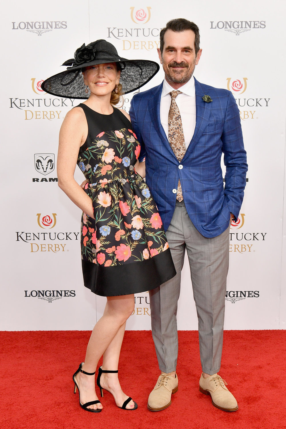 LOUISVILLE, KY - MAY 05: Actor Ty Burrell (R) and Holly Burrell attend Kentucky Derby 144 on May 5, 2018 in Louisville, Kentucky.  (Photo by Dia Dipasupil/Getty Images for Chruchill Downs) *** Local Caption *** Ty Burrell;Holly Burrell