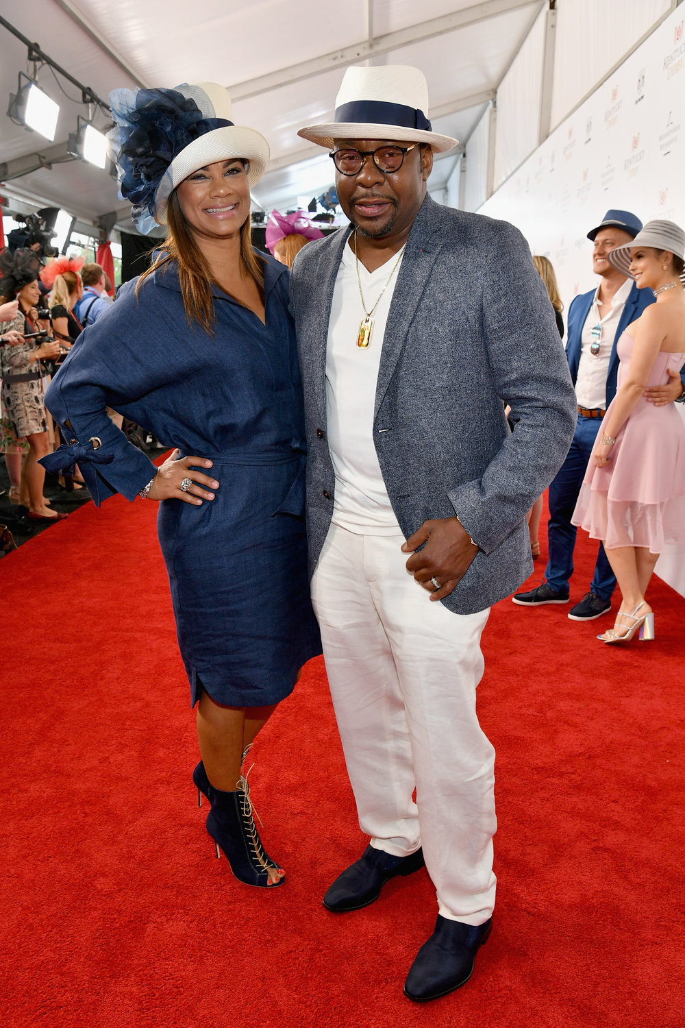 LOUISVILLE, KY - MAY 05:  Alicia Etheredge and Bobby Brown attend Kentucky Derby 144 on May 5, 2018 in Louisville, Kentucky.  (Photo by Dia Dipasupil/Getty Images for Chruchill Downs) *** Local Caption *** Alicia Etheredge;Bobby Brown