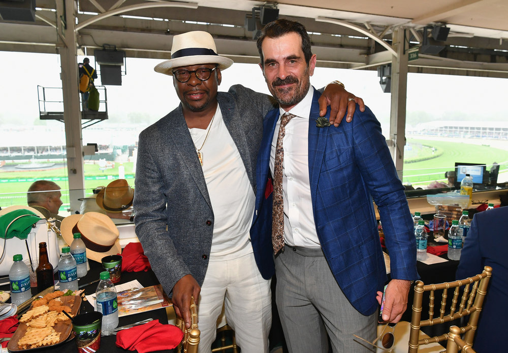 LOUISVILLE, KY - MAY 05:  Bobby Brown and Ty Burrell attend Kentucky Derby 144 on May 5, 2018 in Louisville, Kentucky.  (Photo by Dia Dipasupil/Getty Images for Chruchill Downs) *** Local Caption *** Bobby Brown;Ty Burrell