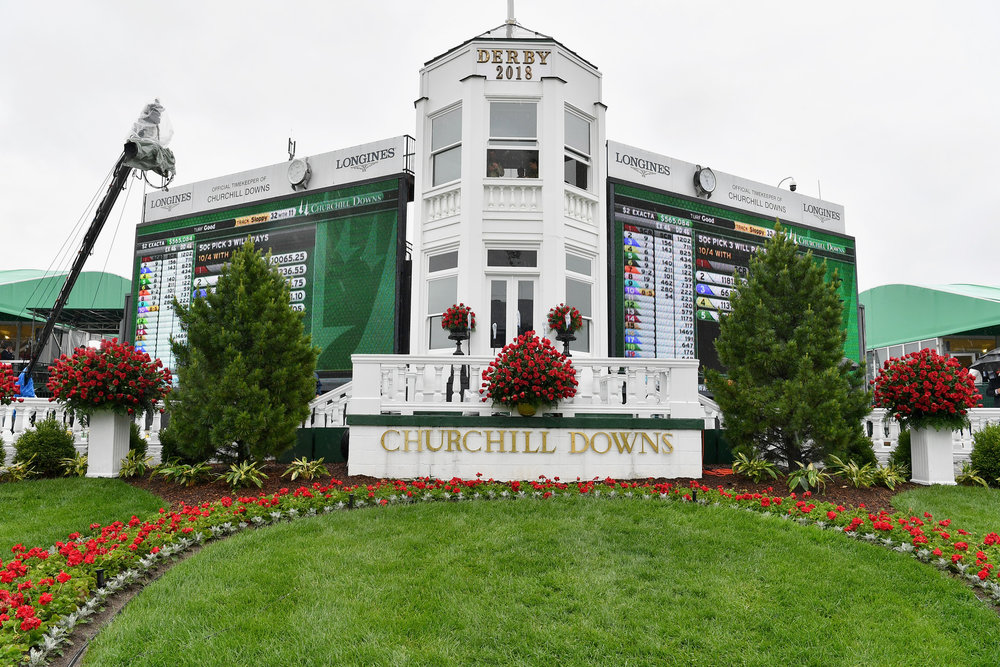 LOUISVILLE, KY - MAY 05:  A view of the Churchill Downs race track during Kentucky Derby 144 on May 5, 2018 in Louisville, Kentucky.  (Photo by Dia Dipasupil/Getty Images for Chruchill Downs)