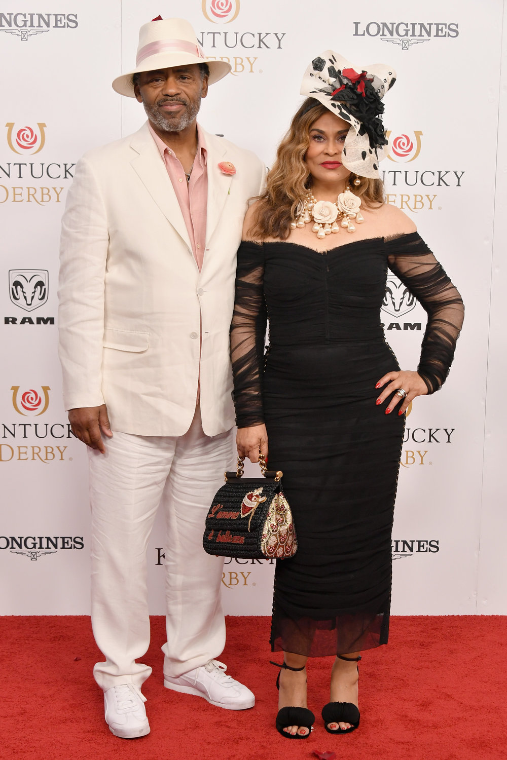 LOUISVILLE, KY - MAY 05: Richard Lawson and Tina Lawson attend Kentucky Derby 144 on May 5, 2018 in Louisville, Kentucky.  (Photo by Michael Loccisano/Getty Images for Churchill Downs) *** Local Caption *** Richard Lawson;Tina Lawson