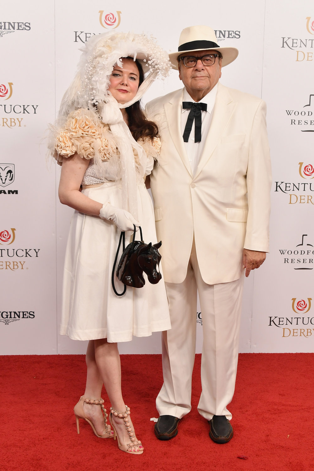 LOUISVILLE, KY - MAY 05:  Dee Dee Sorvino and Paul Sorvino attend Kentucky Derby 144 on May 5, 2018 in Louisville, Kentucky.  (Photo by Michael Loccisano/Getty Images for Churchill Downs) *** Local Caption *** Dee Dee Sorvino;Paul Sorvino