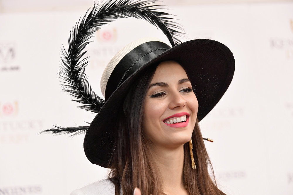 LOUISVILLE, KY - MAY 05:  Actress Victoria Justice attends Kentucky Derby 144 on May 5, 2018 in Louisville, Kentucky.  (Photo by Michael Loccisano/Getty Images for Churchill Downs) *** Local Caption *** Victoria Justice