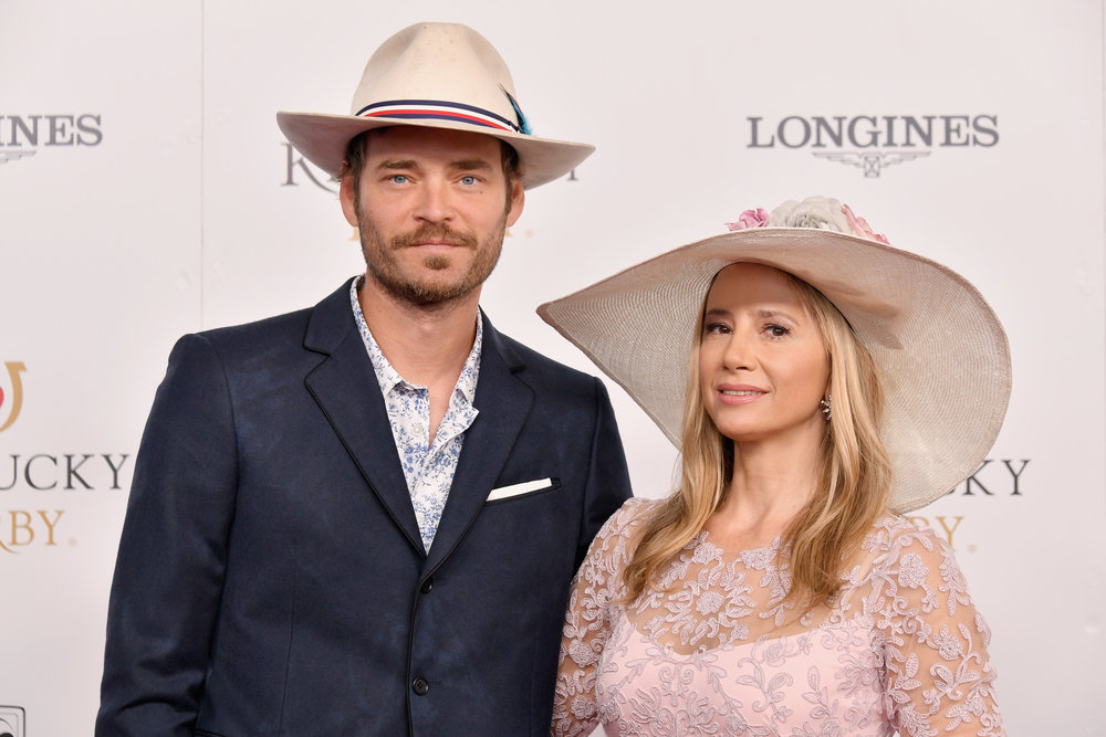 LOUISVILLE, KY - MAY 05:  Actors Christopher Backus and Mira Sorvino attend Kentucky Derby 144 on May 5, 2018 in Louisville, Kentucky.  (Photo by Michael Loccisano/Getty Images for Churchill Downs) *** Local Caption *** Christopher Backus;Mira Sorvino