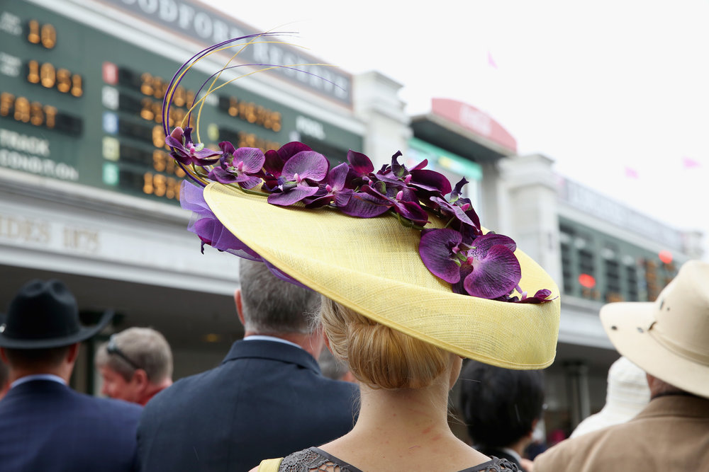 LOUISVILLE, KY - MAY 05:  An ornate hat seen during Kentucky Derby 144 on May 5, 2018 in Louisville, Kentucky.  (Photo by Robin Marchant/Getty Images for Churchill Downs)