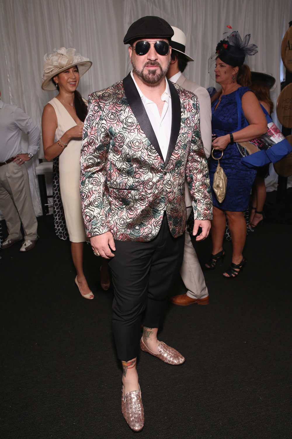LOUISVILLE, KY - MAY 05:  Joey Fatone attends Kentucky Derby 144 on May 5, 2018 in Louisville, Kentucky.  (Photo by Robin Marchant/Getty Images for Churchill Downs) *** Local Caption *** Joey Fatone