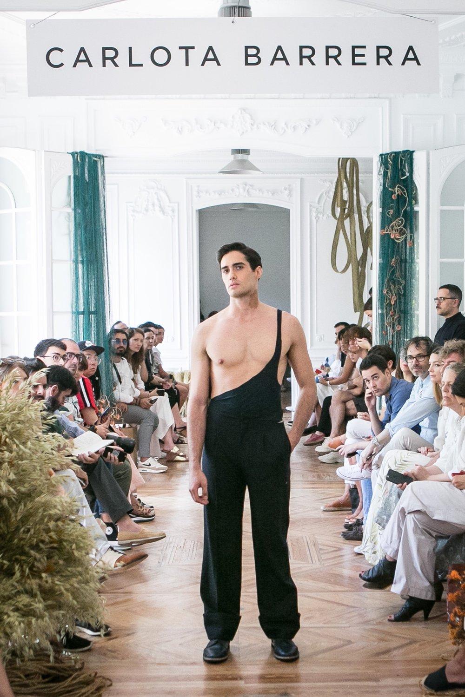MADRID, SPAIN - JULY 12: A model walks the runway during Carlota Barrera show at Mercedes Benz Fashion Week Madrid Spring/ Summer 2019 on July 12, 2018 in Madrid, Spain. (Photo by Pablo Cuadra/Getty Images  For Carlota Barrera)