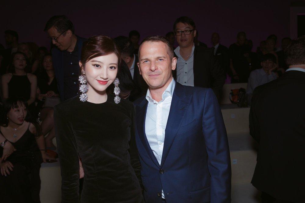 Jing Tian and Gulliaume Jesel, Global Brand President of Tom Ford Beauty.JPG