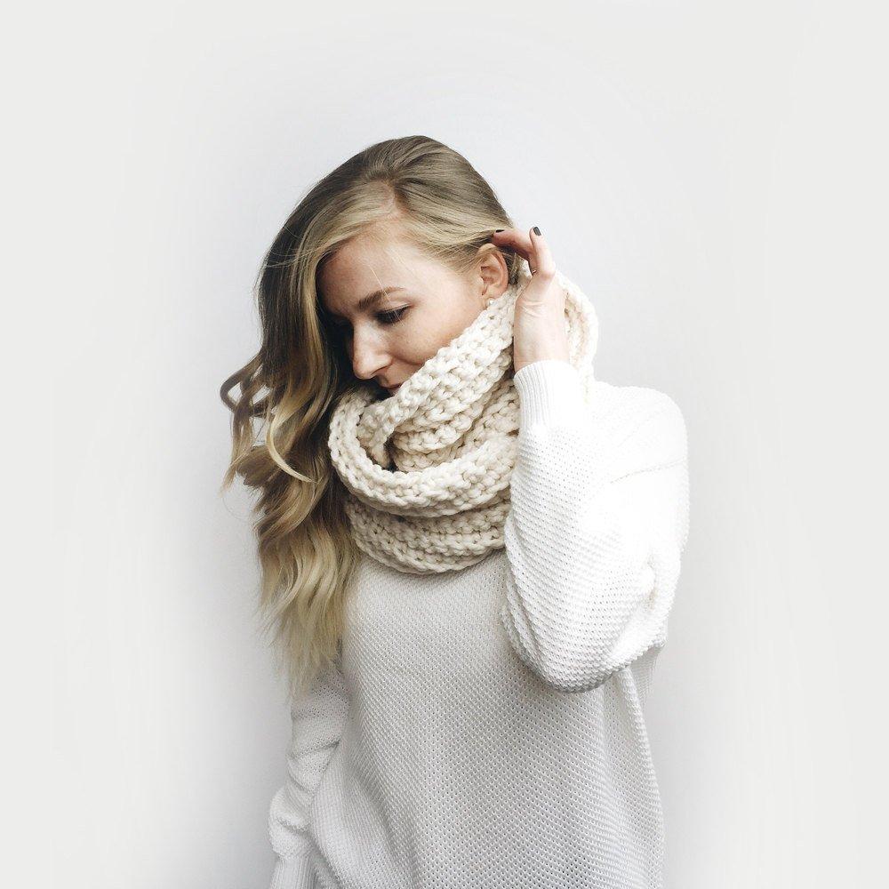 Infinity Scarf, Chunky Knit -