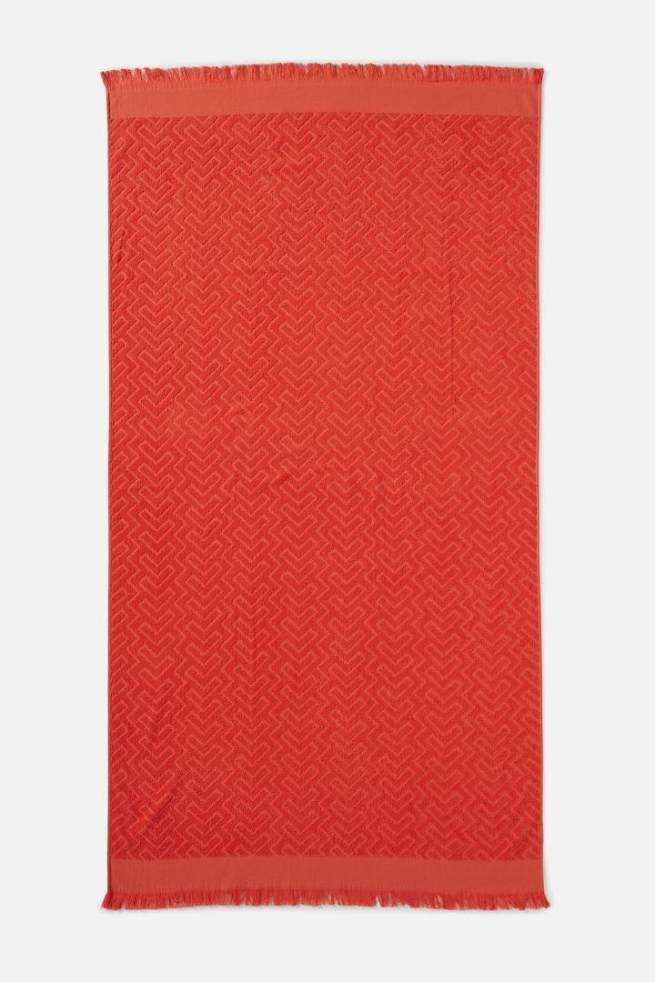 Rubi Love A Jacquard Towel Red Geometric $29.99