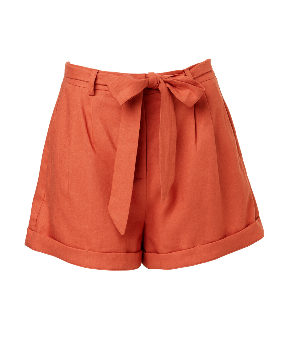 Sportsgirl, High Waisted Linen Shorts, $79.95,