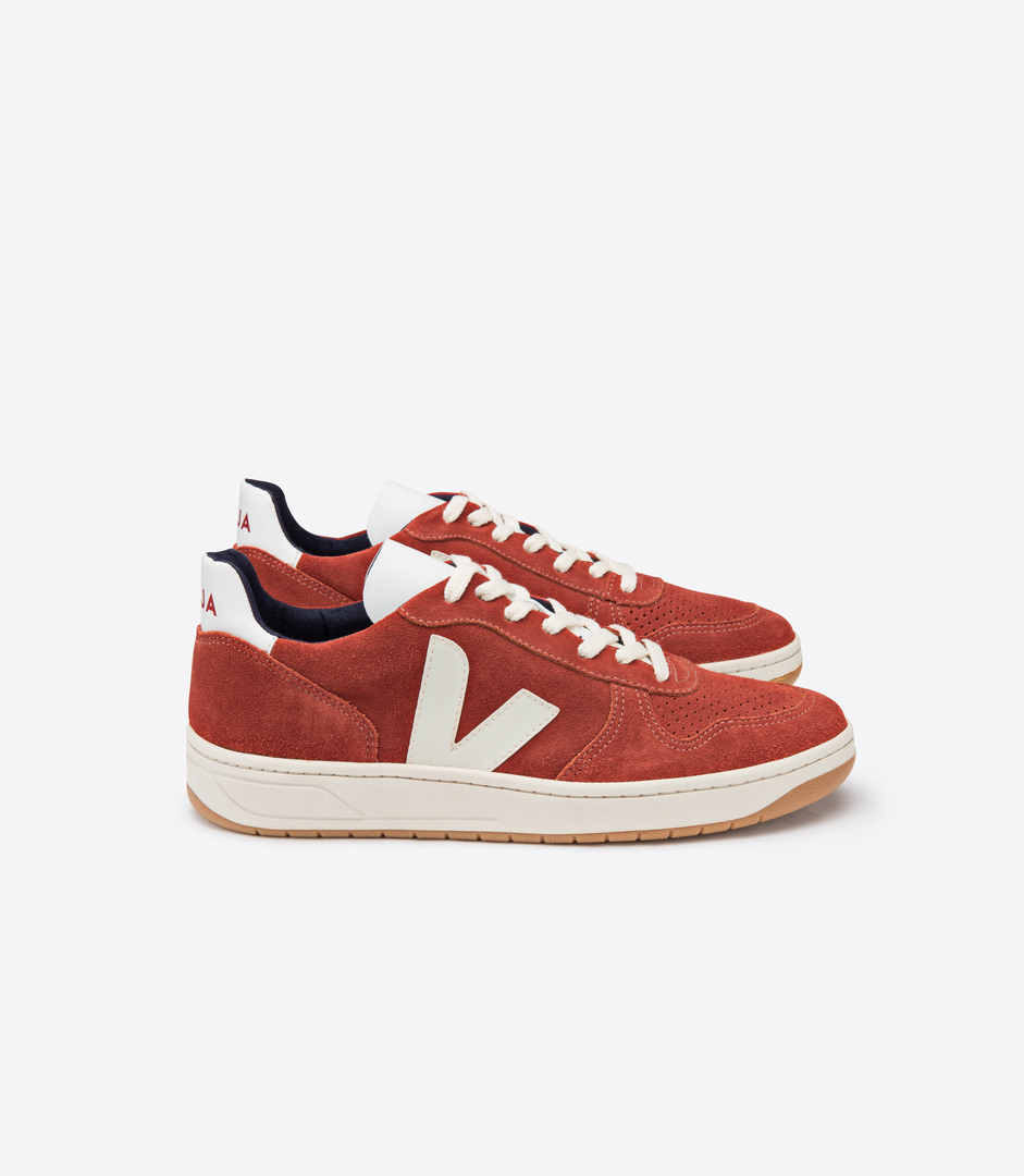 VEJA: SUEDE ROUILLE PIERRE LATERAL