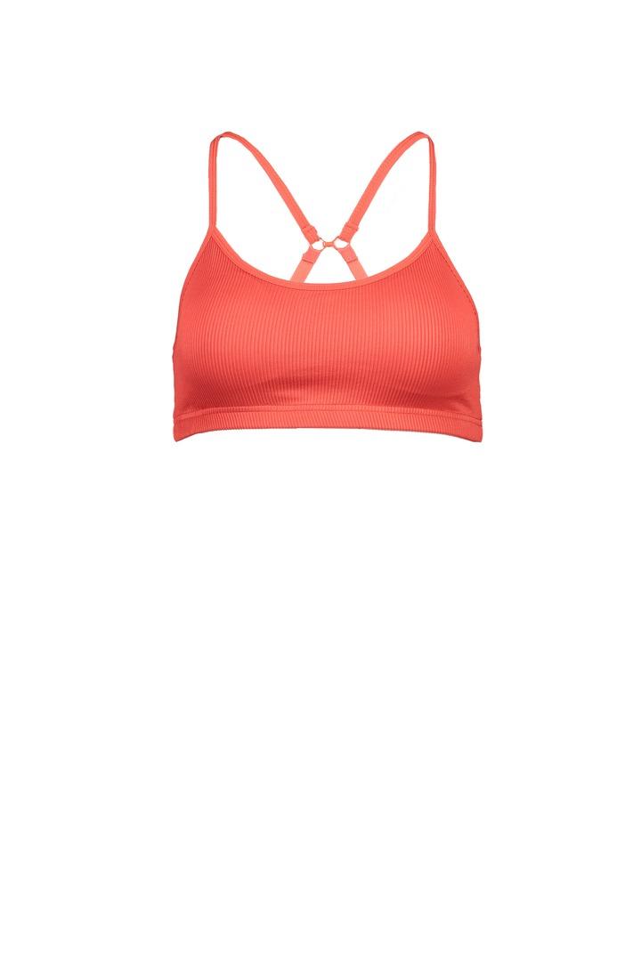 Cotton Body: COB Yoga Crop Paprika Red Rib $19.95