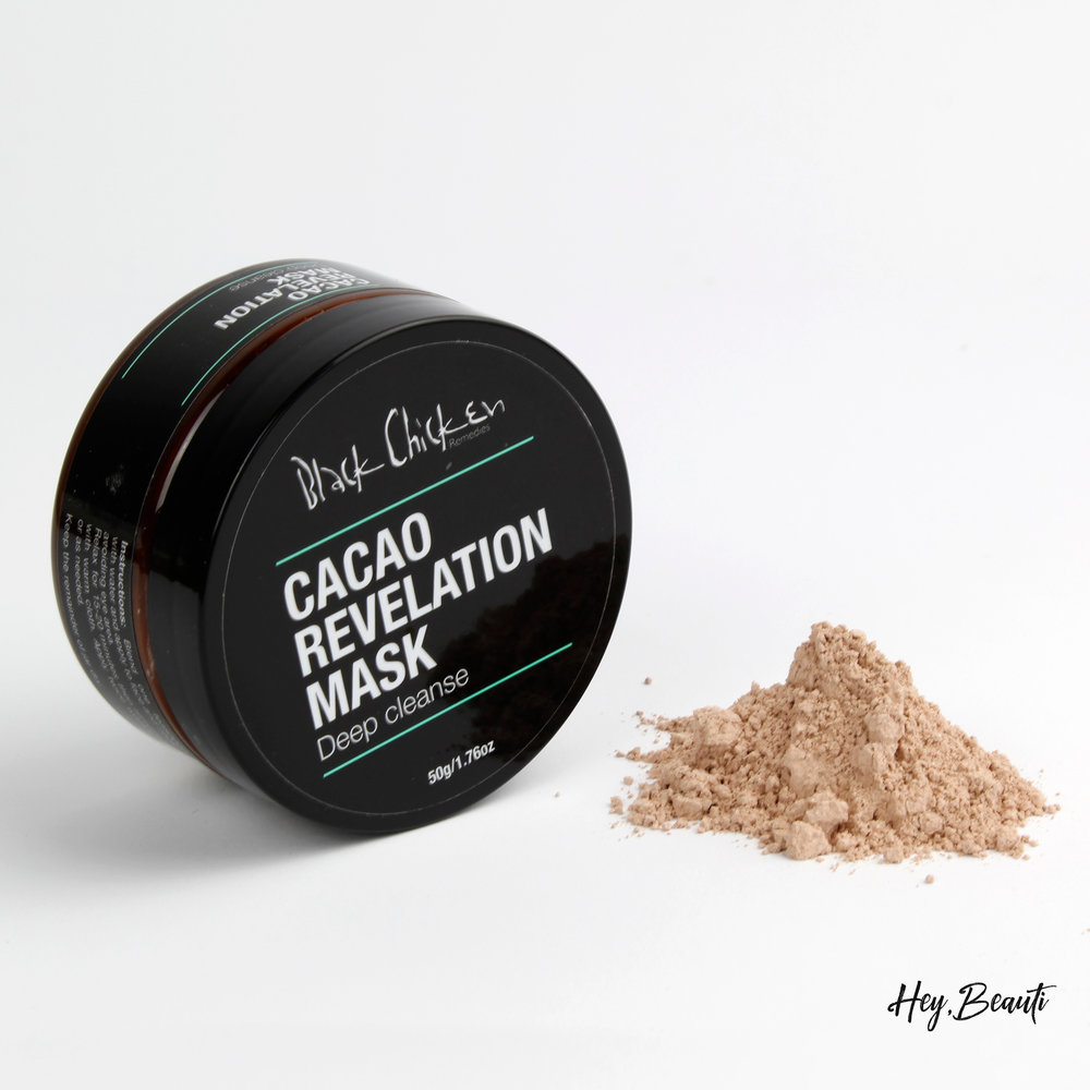 Cacao Revelation Mask - All natural face mask loaded with antioxidants.Cacao Revelation is a little different from other face masks. Kept in their dry state, this unique formula stays fresh until you're ready to use it.This natural face mask promotes a smoother and even skin tone by drawing out impurities from deep within pores. Full of antioxidants, it helps to repair skin and promote healthy cell growth.